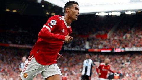 FANTASTISK: Cristiano Ronaldo var på alles lepper etter den vanvittige forestillingen på Old Trafford.