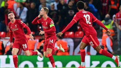 HELTEN: Jordan Henderson ble den store helten da Liverpool snudde kampen mot AC Milan.