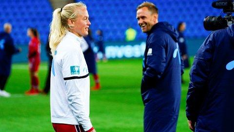 FAST: Guro Bergsvand nøt godt av landslagssjef Martin Sjögrens tillit, og startet begge Norges kamper i VM-kvaliken.