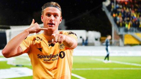 MATCHVINNER: Erik Botheim ble den store helten da Bodø/Glimt tok en viktig seier over Vålerenga.