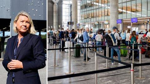 Justisminister Monica Mæland vil ha med Stortinget på å registrere informasjon om reisende for å forebygge alvorlig kriminalitet og terror.