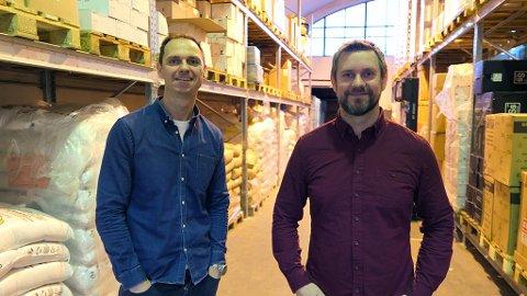 ENORM VEKST: Brewshop i Trondheim opplever eksplosiv vekst i omsetning. Nå lanserer brødrene Manfred (t.v) og Ronny Skårsmoen ny nettbutikk.