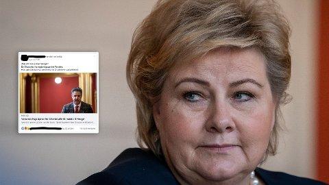 REAKSJONER: Flere tillits- og folkevalgte i Høyre reagerer kraftig på Høyres snuoperasjon i saken om den terrorsiktede IS-kvinnen. Foto: NTB Scanpix/Facebook