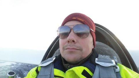 Geir Dyrdal flyr seilfly uten motor, og flyr mellom en til to ganger i måneden.