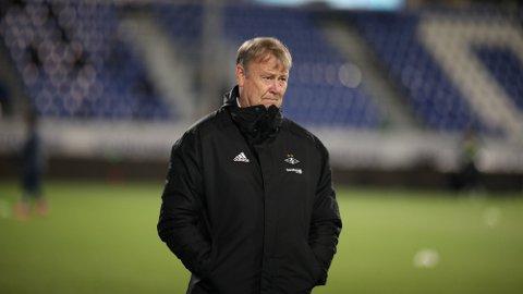 Rosenborgs trener Åge Hareide sendte laget sitt ut i treningskamper den siste uken. Foto: Christoffer Andersen (NTB)
