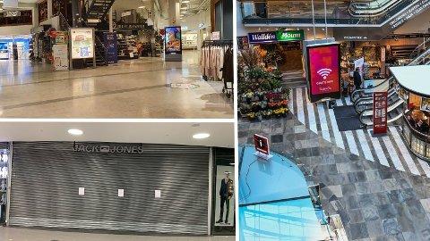 TØFF HVERDAG: Det er få besøkende i byens kjøpesentre. Dermed ser flere nødt til å stenge.