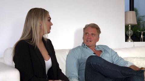 FORLOVET: Emma Krokdal (24) er forlovet med Dolph Lundgren (62).
