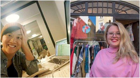 Silje Kristin Granum, daglig leder i Folksnakk er en av initiativtakerene bak Krisepakken.com. Sophia Johansson er en av eierene av Prisløs, som nå skal få hjelp til å lage nettbutikk.