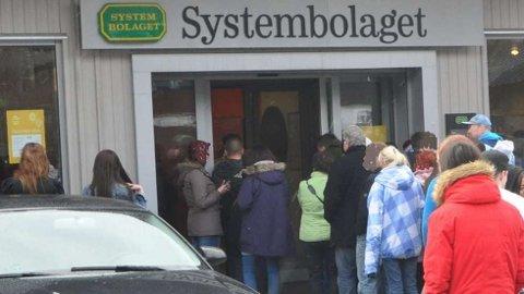 KØFRITT: Det norske besøket ved Systembolaget i Åre er borte. Bare i første kvartal 2020 gikk omsetningen ned 1,9 prosent.  FOTO: SVEIN HELGE FALSTAD