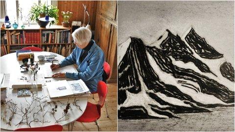 Arkitekt Birgit Cold (84) bruker skisser som en måte å huske på. – Jeg har alltid hatt dårlig hukommelse av en eller annen grunn, men alt jeg tegner, det husker jeg, forteller hun.