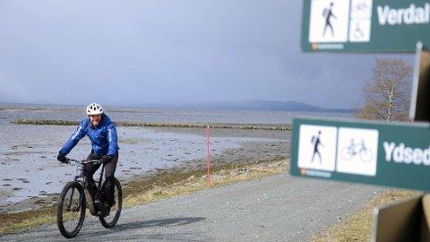 FJORDEN RUNDT: Christian Green mener at elsykling rundt trondheimsfjorden kan bli et fyrtårn i reiselivssatsingen i regionen.  FOTO: OLAV LORENTSEN