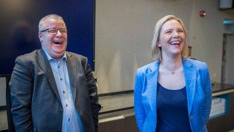Frp-toppene Bård Hoksrud og Sylvi Listhaug sier Frp vil stille en rekke krav i forhandlingene om revidert nasjonalbudsjett. Foto: Ole Berg-Rusten (NTB scanpix)
