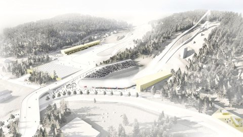 Slik skal Granåsen se ut til ski-VM i 2025.