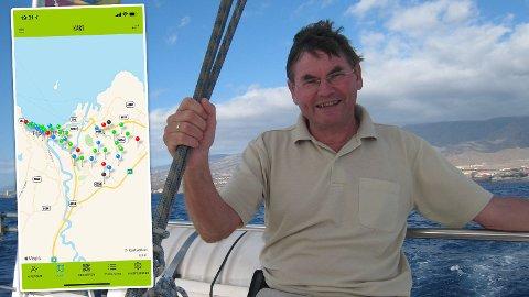 SPREKING: Arne Johan Jensen brukte nær seks timer på å ta alle punktene i Trondheim. Han var først av alle.