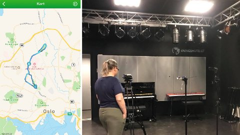 ALIBI: Klokken 19.10, bare timer etter ugjerningen kan ha skjedd, er søster innlogget fra Oslo i appen Endomondo. Bildet til høyre har min søster tatt onsdag klokken 16.44. Metadata viser at det er tatt i Oslo.