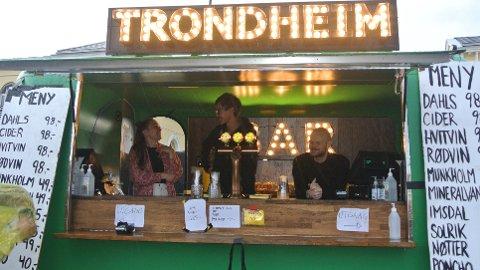 Tina Kleven (24), Markus Jøssund (25) og Bertil Gjendemsjø (25) jobber på Stormfestivalen. De opplever at fulle folk bryr seg mindre om smittevernsregler enn andre.