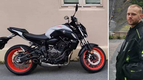 ETTERLYST: Andreas Berg Fritz savner sin Yamaha MT07 2019-modell.