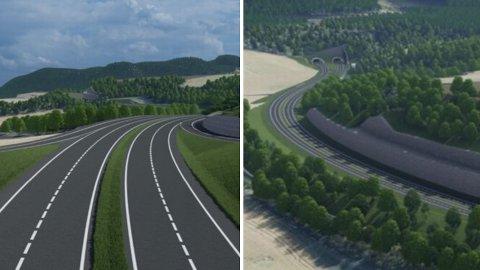 NY E6: Slik ser skissene over ny E6 utover Ranheim og Væretrøa ut.