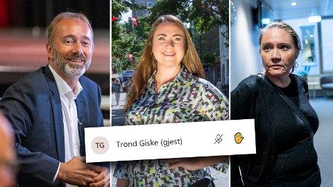 BLE FORESLÅTT: Både Trond Giske, Tine Eikevik og Eva Kristin Hansen ble foreslått som ledere av Trondheim Arbeidersamfunn mandag kveld