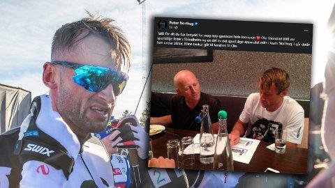I SORG: Skistjernen Petter Northug hyller Ole Thonstad på sosiale medier. På Instagram Story skriver han at verden har fått ei ny stjerne.