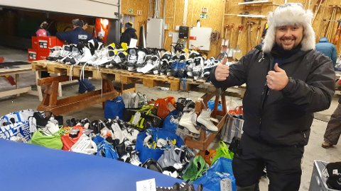 Jan Terje Skjetne er rekrutteringsansvarlig i Astor Ishockeyklubb, og blir beskrevet som primus motor for dugnaden.