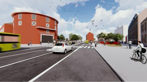 DROPPES: Politikerne i Trondheim skal nå ta stilling til om de skal gå for en betydelig mindre ombygging av Elgeseter gate.