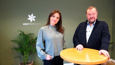 Mona Grudt og Marvin Wiseth er klare til å lose trønderne gjennom tv-sendingen på Trønder TV førstkommende søndag.