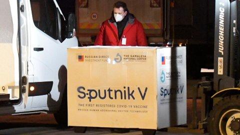 Den russiskproduserte korona-vaksinen Sputnik V er til løpende vurdering hos EUs legemiddeltilsyn EMA.