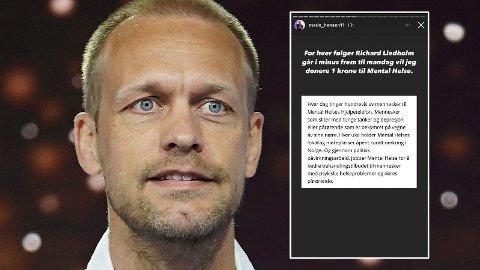 GJØR DET IGJEN: Mads Hansen har nok en gang satt i gang en innsamlingsaksjon for å få folk til å slutte og følge realitydeltakere. Foto: NTB, Instagram