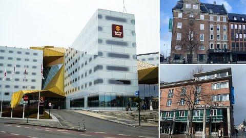 TOMME ROM: På disse hotellene har kommunen kjøpt 22.357 hotelldøgn som aldri er blitt benyttet