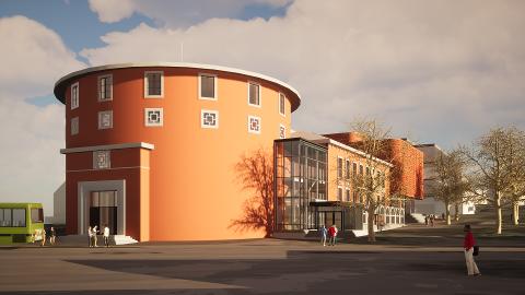 Samfundetstyret håper nå på at nybygget kan stå klart til UKA i 2023.