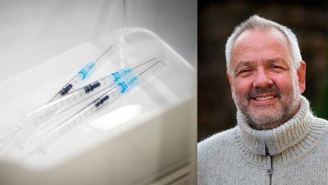Overlege Preben Aavitsland i Folkehelseinstituttet (FHI) avviser at det er oppe til vurdering å fordele vaksiner på en annen måte enn i dag.