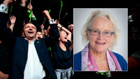 MELDER SEG INN: Gunn Kari Hygen var lenge i ledergruppen til Equinors letegruppe på norsk sokkel i 80- og 90-årene. Nå melder hun seg inn i MDG. Foto: Montasje (NTB/Privat)