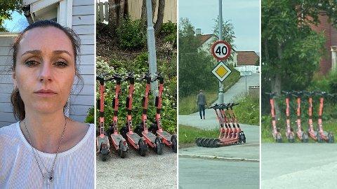 REAGERTE: Magdalena Verkerk fikk seg en stor overraskelse da hun var ute mandag.