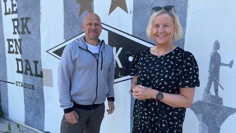 Pål Aarvåg er ansatt i prosjektstilling for å ha hovedansvaret for RBKs gatelag som starter opp i høst. Her sammen med Tove Moe Dyrhaug