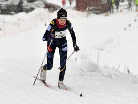 LOKAL: Judith Ingela Rickertsen Hole representerte Bækkelaget SK/Team Kollen og gikk i mål på 11. plass i 17-årsklassen.