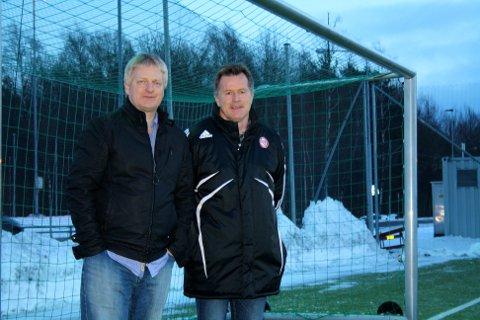 Daglig leder i KFUM, Thor-Erik Stenberg, (til venstre) og Sportslig leder, Eivind Arnevåg gjør en flott jobb med utvikling av barn og ungdom på KFUMs fotballakademi. (FOTO: Aleksander Hauge)