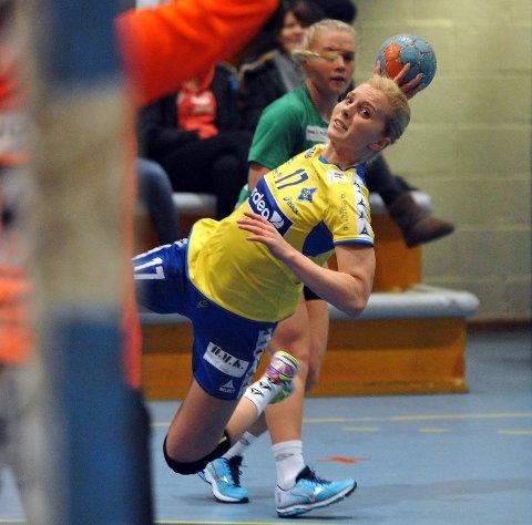 VIKTIG: Lise Agnete Prytz Moe spilte en god kamp med fem mål mot Fjellhammer.