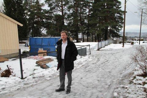 MIDLERTIDIG Tilhold: Her, i den nedlagte barneparken i Solveien, skal Sæter barnehage være fra april til august.