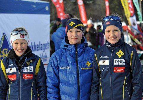BSK-TRIO: Eline Holter Henriksen, Sunniva Leikanger og Runa Krogernes deltok.