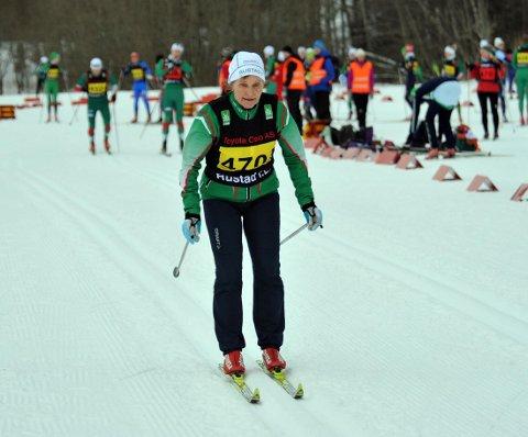 SPREK 70-ÅRING: Astrid Svanes Bertelsen er aktiv og går fem renn i sesongen. Alle Foto: Solfrid Therese Nordbakk