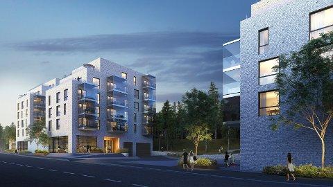 POPULÆRT: Da de første leilighetene i boligprosjektet Symra terrasse be de lagt ut for salg denne uken ble alle bortsett fra én solgt. Alle illustrasjoner: Blår/Obos