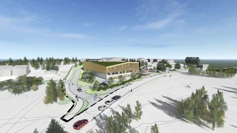 MANGLERUD BAD: Østensjø BU skal ta stilling til planforslaget for nye Manglerud bad og nærliggende omgivelser. Illustrasjon: Undervisningsbygg/Asplan Viak