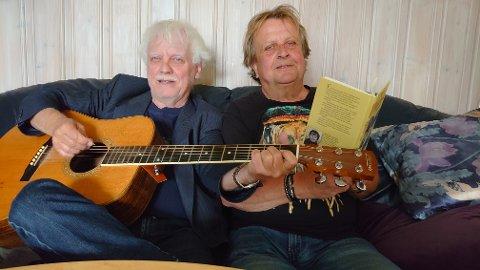MIMRER: Musiker Trond Granlund og forfatter Trond Hansen mimrer om oppveksten på femti-og sekstitallet. Lørdag 20. august er de å se på Nordstrandshuset.