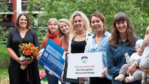 STAS: Den blå appelsin Kanvas-barnehage på Nordstrand gikk helt til topps og vant prisen Årets barnehage, 2020.