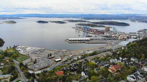 Det nye havnelageret kan bli dobbelt så stort som lageret på Kneppeskjærsutstikkeren.