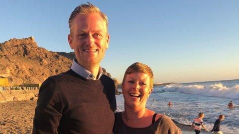 Simen Holvik og kona Camilla Lobes Holvik som gikk bort i 2019.