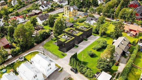 Om kort tid begynner oppføringen av tre boliger i Kittel-Nielsens vei. Boligene er tegnet av arkitekt Søren Yran.