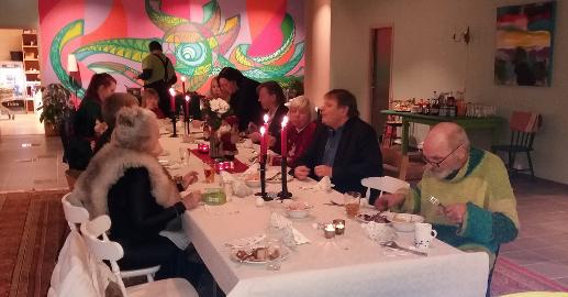 Julekvelden på Aktivitetshuste ble både trivelig og vellykket.