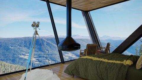 Illustrasjon av Ørneredet Økohytte (Eagle Nest Eco Lodge).